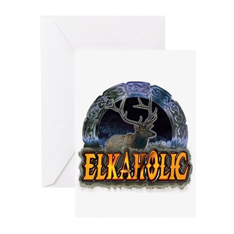 Elkaholic Elk t-shirts and gi Greeting Cards (Pack