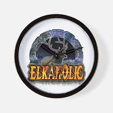 Elkaholic Elk t-shirts and gi Wall Clock
