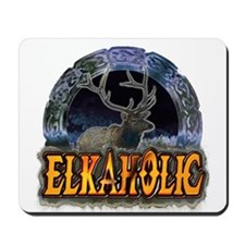 Elkaholic Elk t-shirts and gi Mousepad