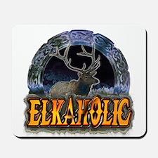 Elkaholic Elk t-shirts and gi Mousepad