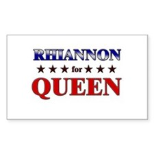 RHIANNON for queen Rectangle Decal