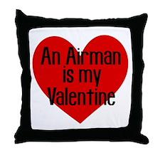 Airman Valentine Red Throw Pillow