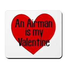 Airman Valentine Red Mousepad