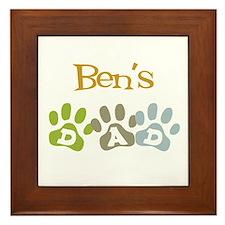 Ben's Dad Framed Tile