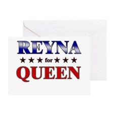REYNA for queen Greeting Card