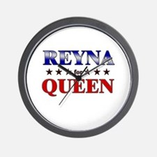 REYNA for queen Wall Clock
