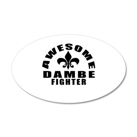 Awesome Dambe Fighter 35x21 Oval Wall Decal