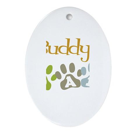 Buddy's Dad Oval Ornament