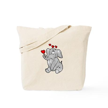 Valentine Elephant Tote Bag