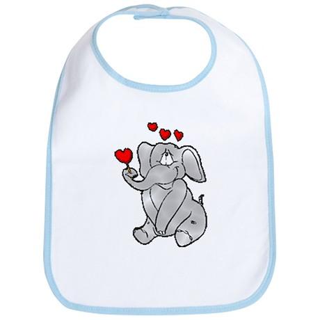 Valentine Elephant Bib