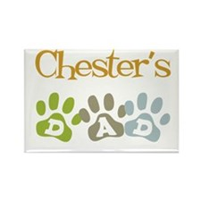 Chester's Dad Rectangle Magnet
