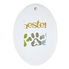 Chester's Dad Oval Ornament