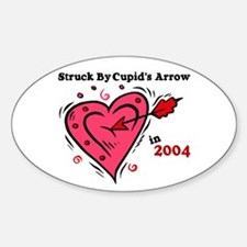 Struck By Cupid's Arrow 1 (2004) Oval Decal