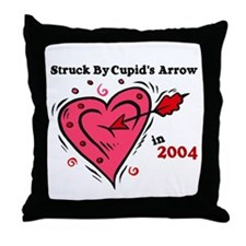 Struck By Cupid's Arrow 1 (2004) Throw Pillow