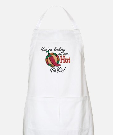 You're Looking at One Hot YiaYia! BBQ Apron