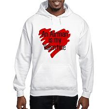 Airman Valentine Red Scribb Hoodie