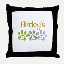 Harley's Dad Throw Pillow