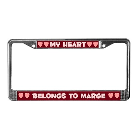 My Heart: Marge (#007) License Plate Frame
