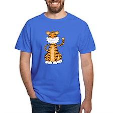 Orange Cartoon Tiger T-Shirt