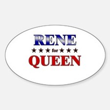 RENE for queen Oval Decal