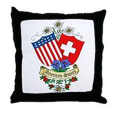 Swiss Shop Throw Pillow