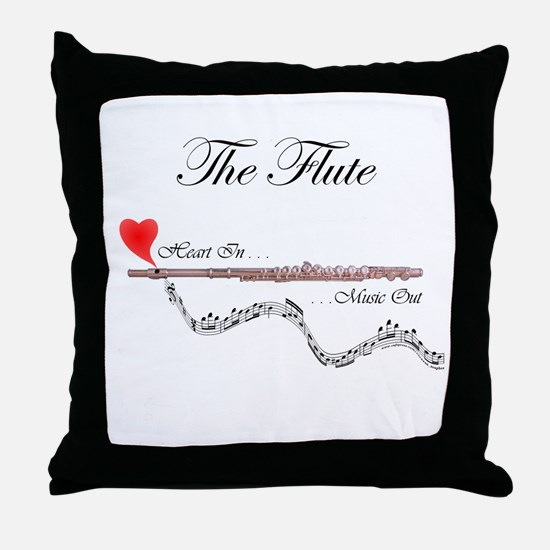 'The Flute' Throw Pillow