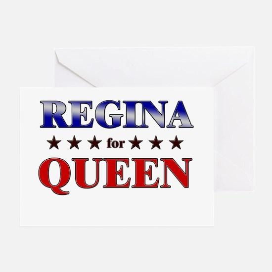 REGINA for queen Greeting Card