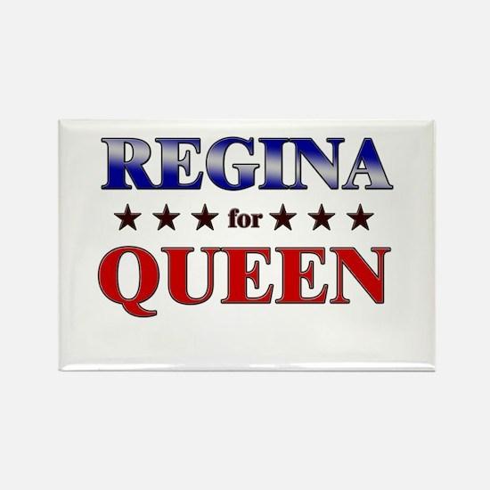 REGINA for queen Rectangle Magnet