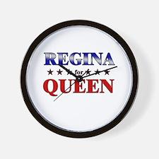 REGINA for queen Wall Clock