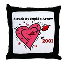 Struck By Cupid's Arrow 1 (2001) Throw Pillow