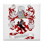 Winthrop Coat of Arms Tile Coaster