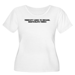 Verbosity leads to unclear in T-Shirt