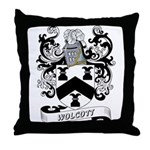 Wolcott Coat of Arms Throw Pillow