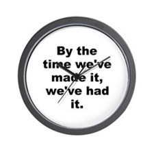 Funny Forbes quote Wall Clock