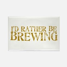 I'd Rather Be Brewing Rectangle Magnet
