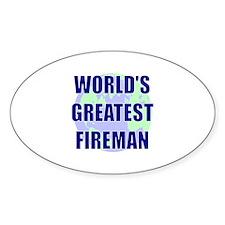 World's Gretest Fireman Oval Decal