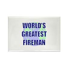 World's Gretest Fireman Rectangle Magnet