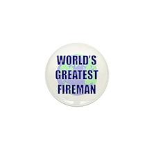 World's Gretest Fireman Mini Button (10 pack)
