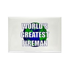 World's Greatest Fireman Rectangle Magnet