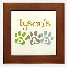 Tyson's Dad Framed Tile