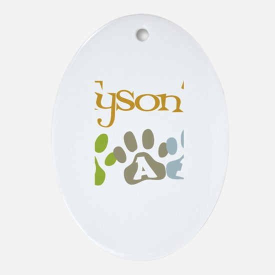 Tyson's Dad Oval Ornament