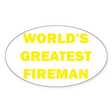 World's Greatest Fireman Oval Decal