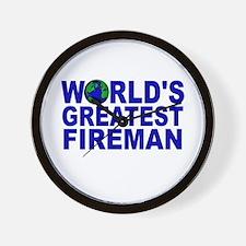 World's Greatest Fireman Wall Clock