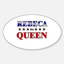 REBECA for queen Oval Decal
