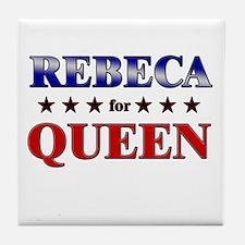 REBECA for queen Tile Coaster
