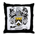 Wright Coat of Arms Throw Pillow
