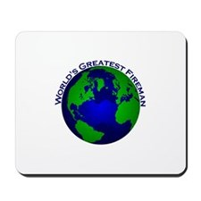 World's Greatest Fireman Mousepad