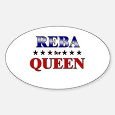 REBA for queen Oval Decal