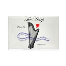 'The Harp' Rectangle Magnet