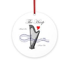 'The Harp' Ornament (Round)